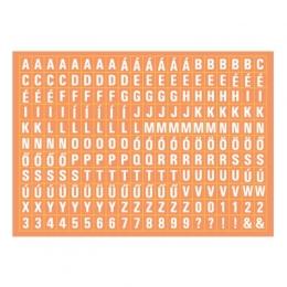 Betűkészlet | A6 matrica - narancs