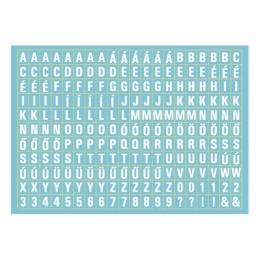 Betűkészlet | A6 matrica - világoskék