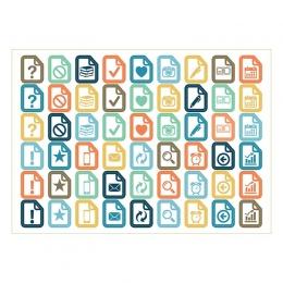 Ikonos | A6 matrica csomag – narancs-világoskék-sötétkék