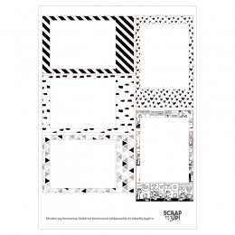 Instax | A5 matrica keretek – fekete-fehér-mintás