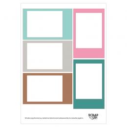 Instax | A5 matrica keretek – rózsaszín-türkiz