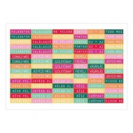 Intézd el! | A6 Matrica – menta-pink-narancs