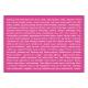 Mi így szórakozunk | A6 matrica – pink