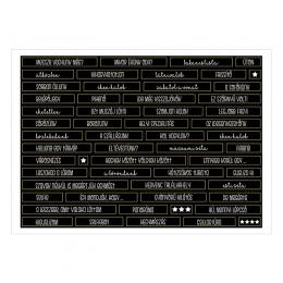 Miénk a világ | A6 matrica - fekete