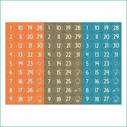Számos | A6 matrica – narancs-khaki-kék