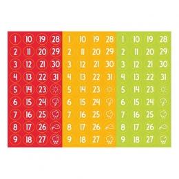 Számos | A6 matrica - piros-sárga-kék