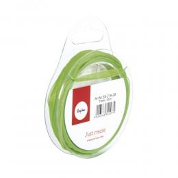 Organzaszalag, 7 mm, zöld, 10 m