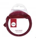 Burgundi vörös bársonyszalag 9mm 3m