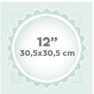 """12"""" 30,5x30,5 cm"""