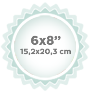 "6x8"" 15,2x20,3 cm"