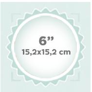 """6"""" 15,2x15,2 cm"""