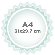 A4 21x29,7 cm