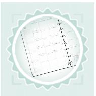 Notebook naptárbetét