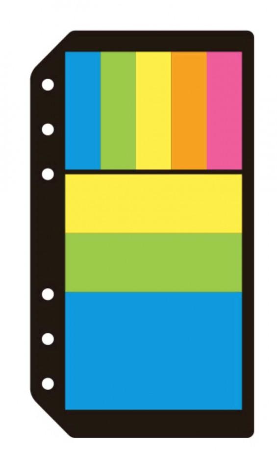Öntapadó színes jegyzetlapok és címkék