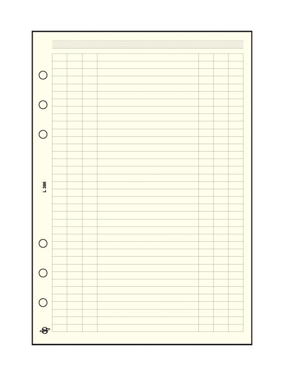 Üres táblázat gyűrűs határidőnaplót vezető tanároknak