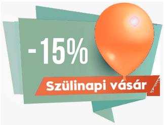 Szülinapi vásár -15% a Scrapbook Webáruházban