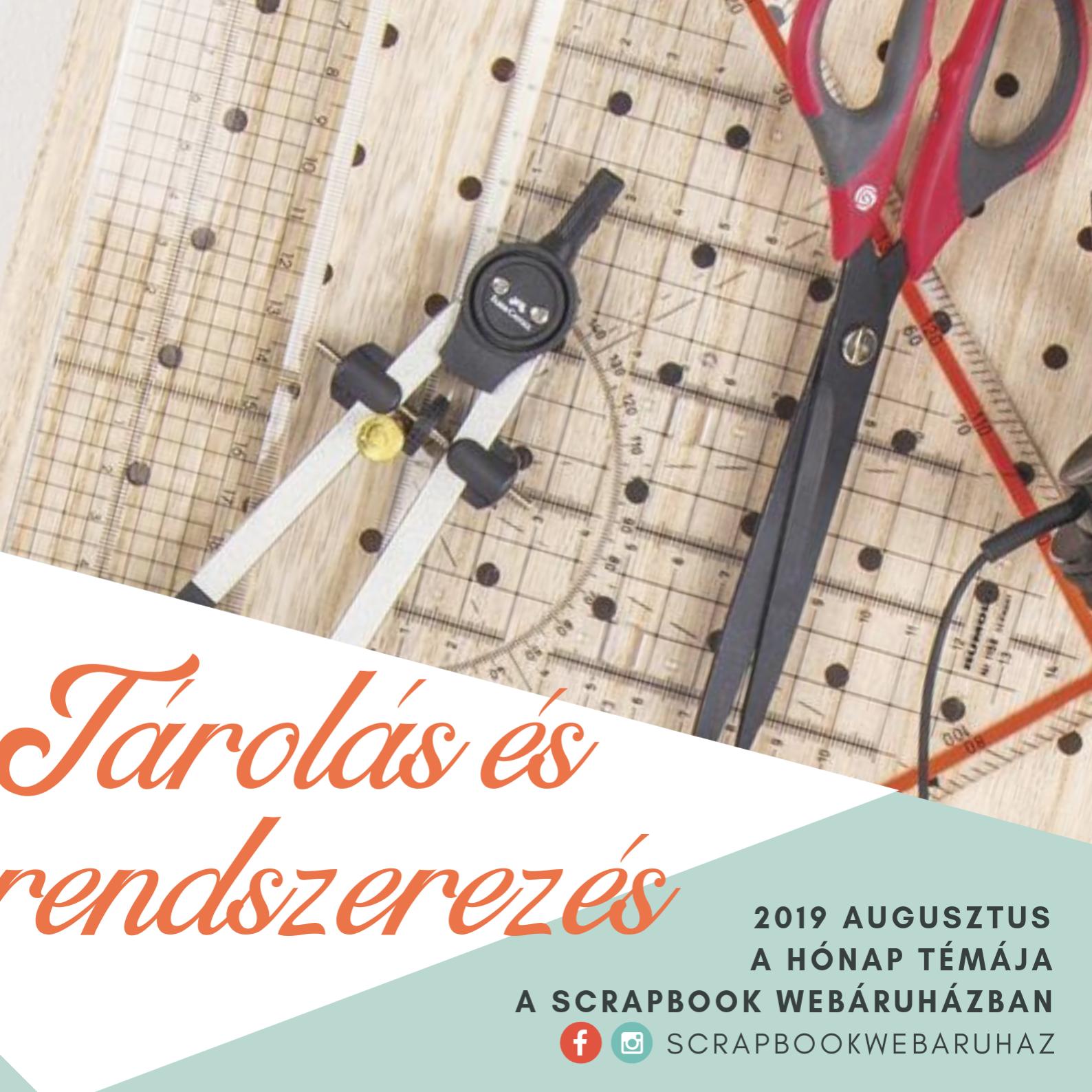 A hónap témája: Tárolás és rendszerezés - Scrapbook Webáruház